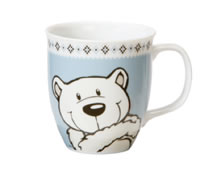 Blue Mug Polar Bear
